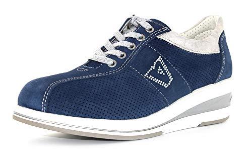 sneakers donna primavera 2020 Valleverde Stringata Donna Camoscio 17143 Blu Una Calzatura Comoda Adatta per Tutte Le Occasioni. Primavera Estate 2020. EU 37