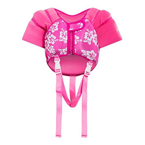 Hony Kinder Schwimmweste - Kleinkind Bademode Schwimmtraining Jacke zum 1-5 Jahre alt Jungen Mädchen Schwimmen Lernen Unisex Blau Rosa