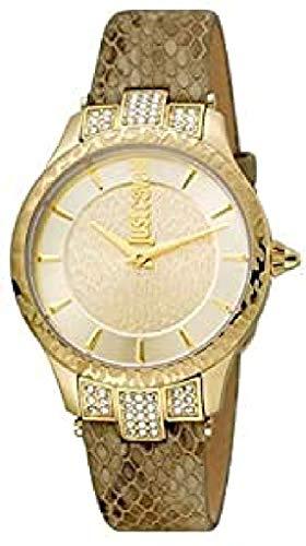 Just Cavalli Damen Analog Quarz Uhr mit Leder Armband JC1L004L0035