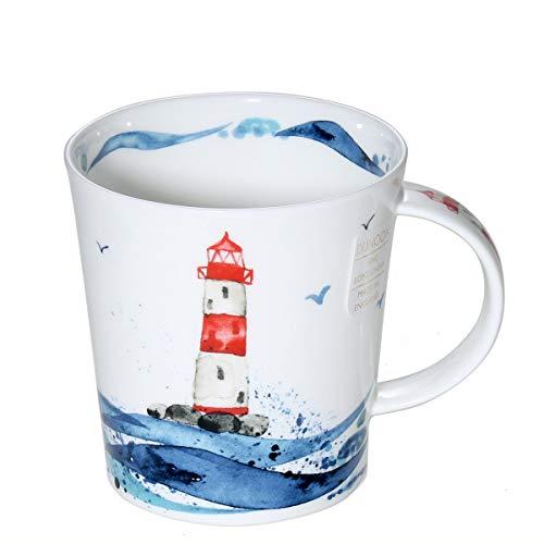 Dunoon Tasse aus feinem Knochenporzellan in Lomond-Form, Wellenlänge, hergestellt in England - Shiny Lighty
