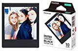 Fuji FUJ105229 - Película instant instax square (black frame, 1x10 fotos)...