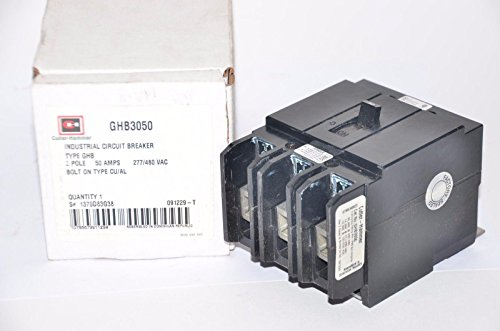 EATON CUTLER HAMMER GHB3050 CIRCUIT BREAKER, THERMAL MAGNETIC, 3P, 50A