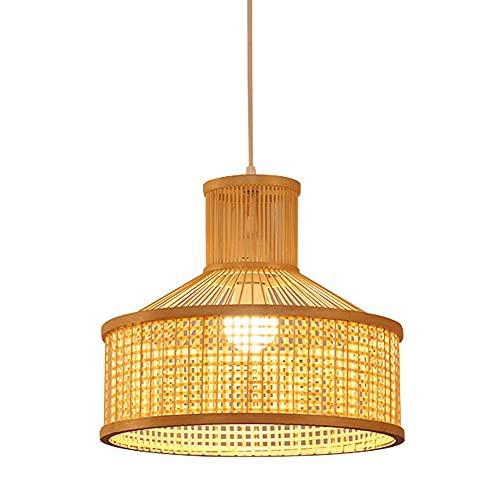 SDUYTEG Luminaria Tejida De Bambú De Estilo Japonés Lámpara De Techo Colgante Lámpara Colgante De Barra Restaurante Araña Moderna Aplique De Luz De Bambú Ajustable De Estudio 🔥