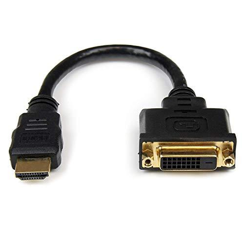 StarTech.com Câble adaptateur vidéo HDMI vers DVI-D de 20 cm - HDMI mâle vers DVI femelle (HDDVIMF8IN)