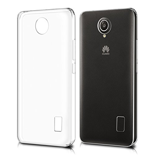 kwmobile Cover Compatibile con Huawei Y635 - Custodia in Silicone TPU - Back Case Protezione Posteriore - Trasparente