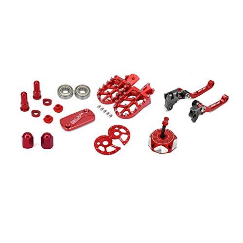 Pegas de pie CNC de la motocicleta, palancas de embrague de freno, cadena de la tapa de gas, ajuste de la cubierta del depósito de frenos, rodamientos de rodillos para fit for h o n d a CRF230F 2004-2