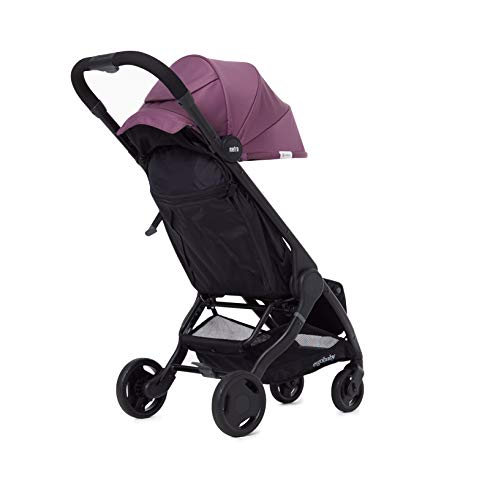 Ergobaby Metro Lightweight Buggy Stroller Pushchair with Reclining Function Model 2020, 6 Months up to 22 kg Toddler (Plum) Ergobaby A stroller that knows no limits. The Ergobaby Metro City Baby Stroller is lightweight, ultra-compact, and can easily fit into a small car boot and in most aircraft overhead bins. An ideal baby and infant travel system. NEW - high-quality wheel bearings for a pleasant ride and reinforced load-bearing capacity of up to 22 kg. More robust sun-shade canopy, padded handle, strap, parking brake, large storage basket for bags and shopping. Baby comfort without compromises – adjustable leg rest, very flat reclining surface, 25 mm multi-zone padding for a highly comfortable seat, which can rarely be found in compact sports strollers. 6