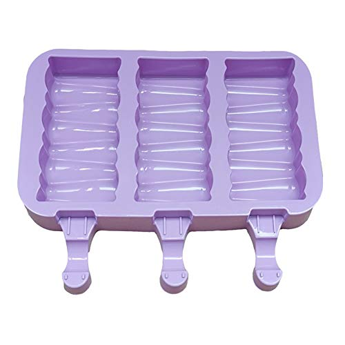 dragonaur-home decor 2/3-Cell Silicone Cartoon Rabbit Paw Ice Cream Mould Lolly-Mold Tray DIY Popsicles Maker Mold with 50 Pcs Wooden Sticks Block Pattern