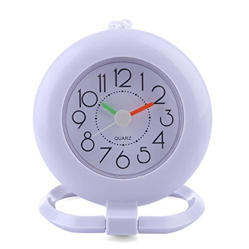 MAJOZ Wanduhr, Badezimmer wasserdicht Wanduhr Uhr Nicht-Tickende Badezimmeruhr, Mini Nette Design wasserdichte Uhr für das Bad, 12x 9,5 x 15CM