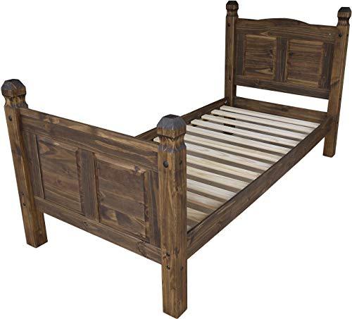 Bett 90x200 Eiche antik Rio Classico Schlafzimmer Holz Pinie Massivholz Echtholz Farbe wählbar Brasilmöbel