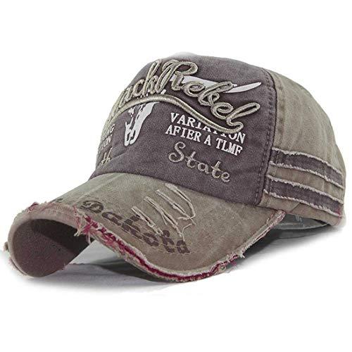 CheChury Vintage Basecap Herren Snapback Distressed Baseball Cap Washed Einstellbare Schirmmütze Freizeit Outdoor Kappe Sport