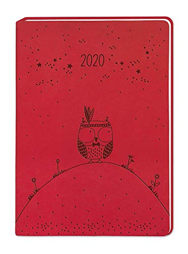 "Terminplaner Lederlook A6 \""Rot\"" 2020"
