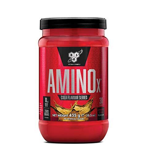 BSN Amino X BCAA Pulver, Zuckerfrei Aminosäuren Komplex Hochdosiert mit Vitamin D, Vitamin B6, Arginin, Taurin und Alanin, Cherry Cola, 30 Portionen, 435g