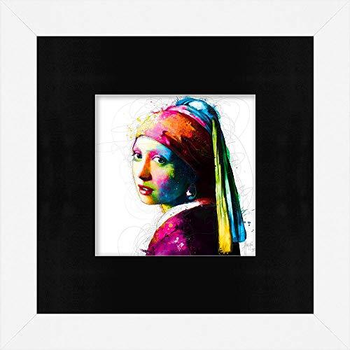 Patrice Murciano - VERMEER POP - Framed Wall Art Print met Mount - 29cm x 29cm