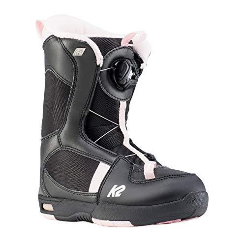 K2 Snowboarding Mädchen Snowboardschuhe Lil Kat Black - Black - Pink - EU: 31.5 (US: 13c - UK: 12c - Mondo: 185) - 11D2019.1.1.13K