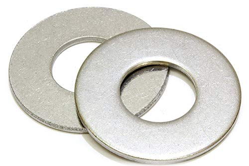 1/4' Stainless Flat Washer, 5/8' Outside Diameter (100 Pack)- Choose Size, by Bolt Dropper, 18-8 (304) Stainless Steel