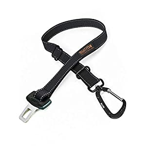 Mighty Paw Dog Seat Belt | Pet Safety Belt, Created with Human Seatbelt Material. All-Metal Hardware with Adjustable Length Strap. Keep Your Dog Secure in The Car