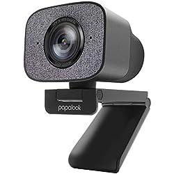 Webcam HDR 2K, papalook PA930 1080P 60FPS Live Streaming Webcam con Doppio Microfono, StreamCam a Fuoco Fisso a 90° con Copertura per la Privacy e Treppiede, webcam per Computer/PC/Mac