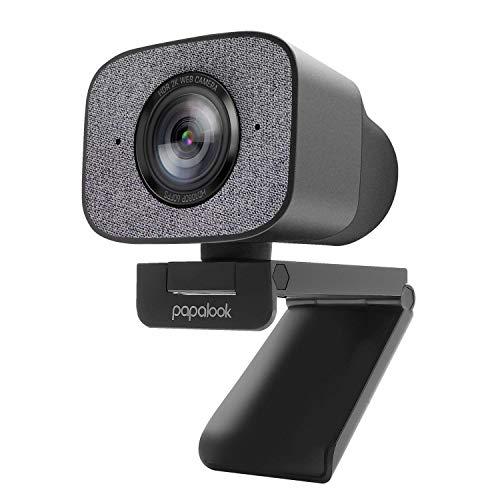 HDR 2K Webcam, papalook PA930 1080P 60FPS Live-Streaming-Webcam mit Doppelmikrofon, 90° StreamCam mit Festem Fokus, Sichtschutz und Stativ, Computer-Webkamera für YouTube, Gaming Twitch, PC/Mac
