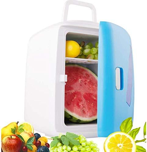 Mini refrigerador y Calentador de Nevera Refrigerador pequeño de 4 litros Dormitorio para el hogar Mini refrigerador refrigerado para Estudiantes para el Cuidado de la Piel y cosméticos