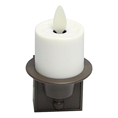 Liown 14253 - 2.1' x 3' Ivory (Unscented) Straight Edge Moving Flame LED Matte Plastic Candle Night Light