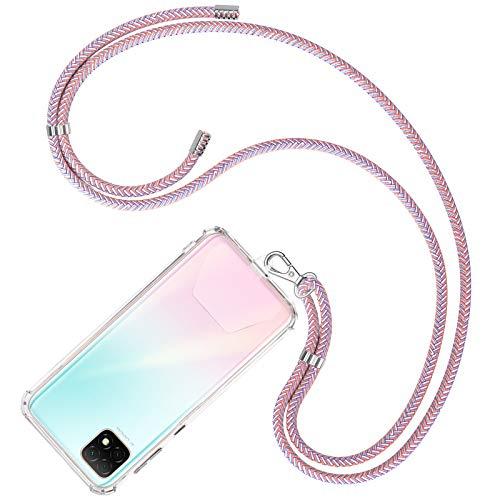 COCASES Universale Handykette, Schlüsselband Halsband zum Umhängen kompatibel mit meisten Smartphones (Rosa-Lila)