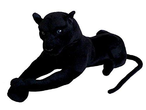 TE-Trend 17879 XXL Plüschtier Schwarzer Panther Stofftier Riesen Kuscheltier Raubkatze Großkatze 80 cm Schwarz