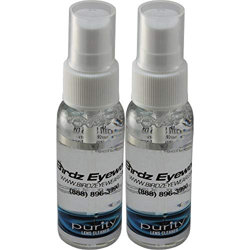 Two Bottles of Birdz Eyewear Amazing Purity Lens Cleaning Spray