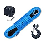 Ucreative 50 Feet Synthetic Winch Line Cable Rope...
