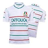 Maillot de Rugby pour Homme, Coupe du Monde Italienne 2019, Terrain à Domicile/Polo de Rugby à l'extérieur, Haut de Sport de Football Supporter Italien, Cadeau d'anniversaire-White-XXXL