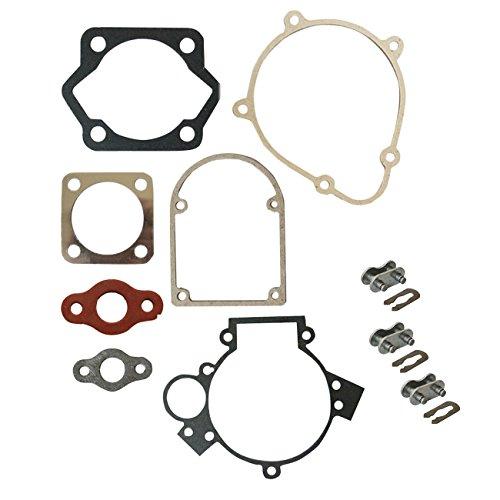 HGC Gasket Set & 3 Chain Master Link For 49cc 66cc 80cc 2 Stroke Engine Motorized Bicycle Bike