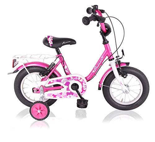 T&Y Trade 12 Zoll Kinderfahrrad Mädchenfahrrad Kinder Mädchen Fahrrad Rad Bike Kinderrad Rücktritt Rücktrittbremse Passion PINK