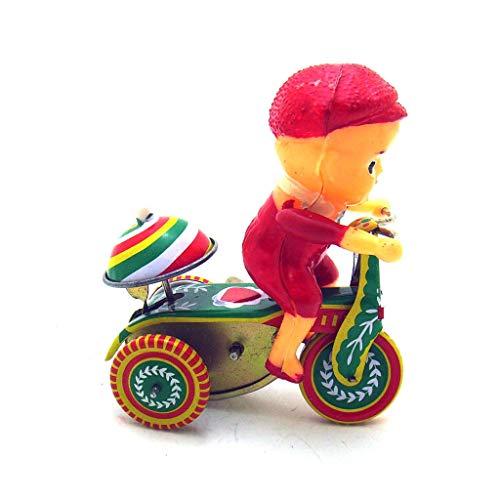 Bascar Uhrwerk Spielzeug Dekoration Bell Kind Dreirad Fahren Weißblech Nostalgie Uhrwerk Spielzeug Fotografie Requisiten Nostalgie Kinder Dreirad