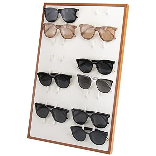 Caja de Almacenamiento para la Gafas , Gafas de sol de madera Organizador 16 Slots Gafas de almacenamiento Pantalla de almacenamiento Lectura Gafas Showcase Soporte Titular de gafas para presentación