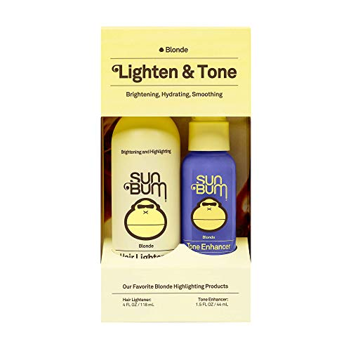 Sun Bum Lighten and Tone Kit | Blonde Hair Lightener and Tone Enhancer Travel Kit | Vegan, Paraben, Gluten and Cruelty Free