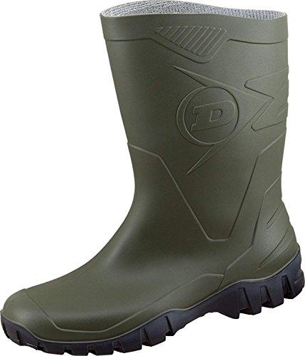 Dunlop Protective Footwear Unisex-Erwachsene Dee-X Gummistiefel inkluisve Hochwertigen Schmutzbeutel aus 100% Baumwolle (41, Oliv)