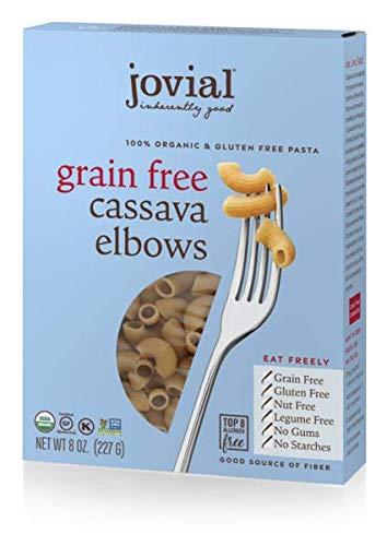 Jovial Cassava Pasta, 100% Organic, Gluten & Grain Free, No Gums, No Starches, Allergen Free (Elbows, 1 Pack)