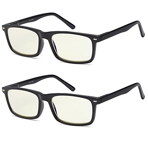 Best Review Of ALTEC VISION SuperPak 2 Pack Computer and Gaming Glasses for Monitor Screen Eye Strai...