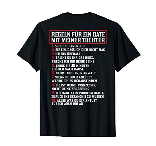 Herren Tochter Vater TShirt Regeln Für Ein Date mit Meiner Tochter T-Shirt