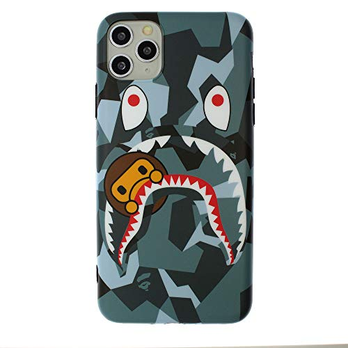 Fanke iPhone 11 Pro Max Soft Case,IMD Sleek Smooth Texture Anti Scratch Durable Coloring Premium TPU Slim Fit Cover for 6.5 iPhone 11 Pro Max with Street Fashion Trend Design (Shayu Monkey NavyBlue)