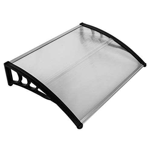 Feufeu Window Awning Canopy Door Entry Awning Polycarbonate Cover Front Door Outdoor Patio Canopy Sun Shelter Hollow Sheet Awning Canopy UV Rain Snow Sunlight Protection Eaves Canopy