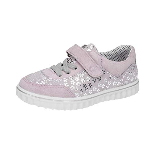 RICOSTA Kinder Sneaker Juli, Weite: Normal (WMS),lose Einlage,Kinderschuhe,Sportschuhe,Freizeitschuhe,Klettschuhe,Viola (323),35 EU / 2.5 UK