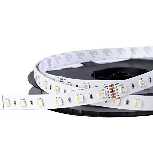 iluminize LED-Streifen RGBW 4 in 1: sehr hochwertiger LED-Streifen RGBW tageslichtweiß (6000K), 60 LEDs pro Meter, hoch selektiert, 24V, 19,2W pro Meter (6000K IP65NANO Rolle 5m)