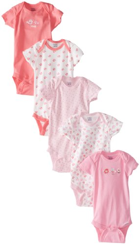Gerber Baby Girls' 5-Pack Variety Onesies Bodysuits, Owl, 6-9 Months