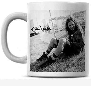 Taza de café de Ed-die-Ve-dder con fotografías vintage personalizadas del día del padre Rock 11oz para Navidad