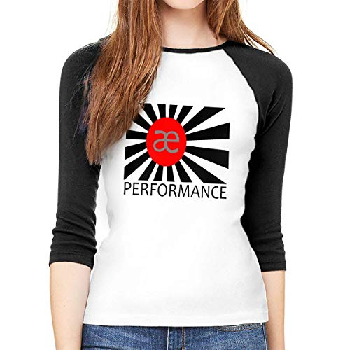 hdghg T-Shirt a Manica 3/4 da Donna,T-Shirt da Donna,Women Long Sleeve T-Shirt, AE Performance Round Neck T Shirt Baseball Tunic Tops Blouse Ladies Raglan 3/4 Length Sleeve Tee