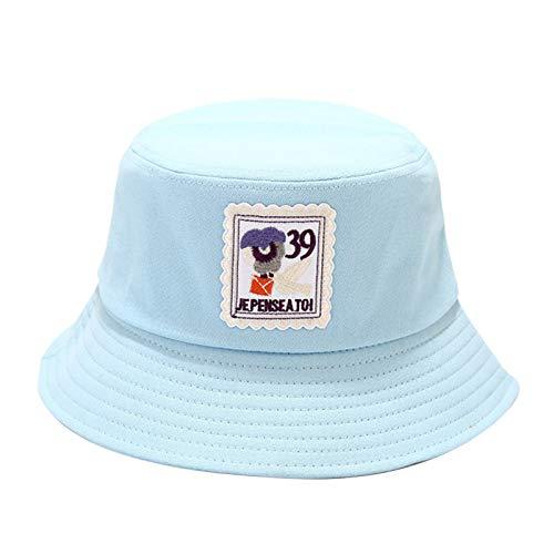 HUAJIA Sombreros De Mujer Retro, Sombreros De Pescador De Algodón, Gorras Plegables Portátiles, Sombrilla para Exteriores, Sombreros para Acampar Al Aire Libre, Senderismo Azul Claro