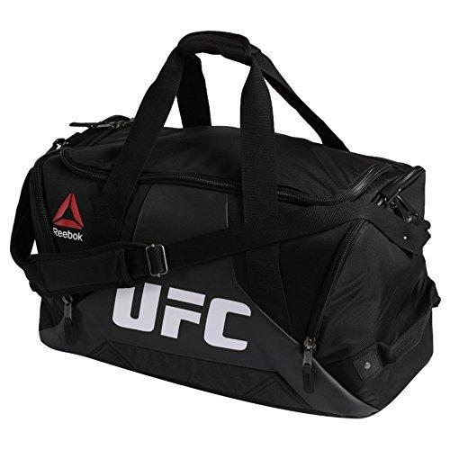 Reebok Combat Grip UFC Fitness & Training Duffle Sport Bag in Black White Red Yellow