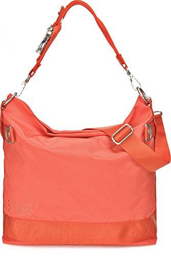 GEORGE GINA & LUCY, Damen Handtaschen, Hobo-Bag, Schultertaschen, Beuteltaschen, Henkeltaschen, 40 x 32 x 13 cm (B x H x T), Farbe:Rot