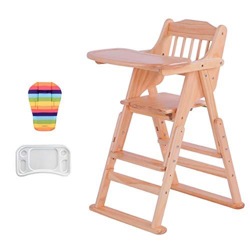 Grande Version en Bois Chaise Haute, Multi-Fonction Infantile Chaise Haute pour Enfant, BéBé-SièGe IdéAl pour Un Usage Commercial Ou Domestique, Varnish